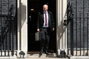 Chris Grayling Cabinet Ministers Attend The Final Meeting Before The Summer Recess