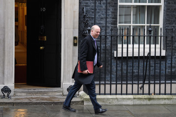 Chris Grayling Government Ministers Attend Weekly Cabinet Meeting