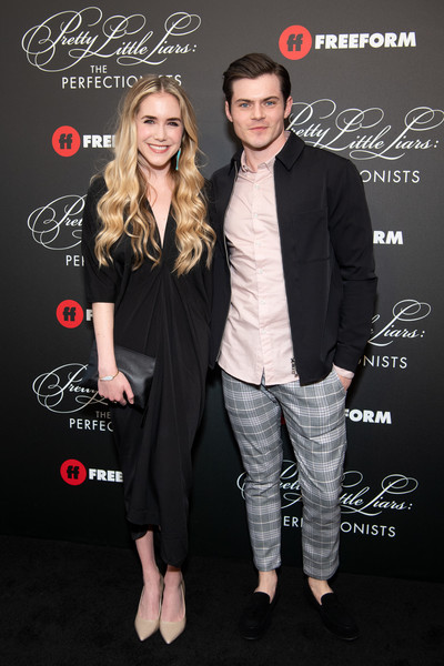 'Pretty Little Liars: The Perfectionists' Premiere - Arrivals [pretty little liars: the perfectionists premiere,pretty little liars: the perfectionists,fashion,suit,formal wear,little black dress,dress,event,footwear,premiere,outerwear,tuxedo,arrivals,spencer locke,chris mason,hollywood,california,hollywood athletic club,premiere]