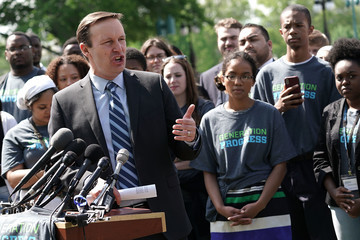 Chris Murphy Rep. Chris Murphy, Activists, Call For Steps To End Gun Violence On Capitol Hill