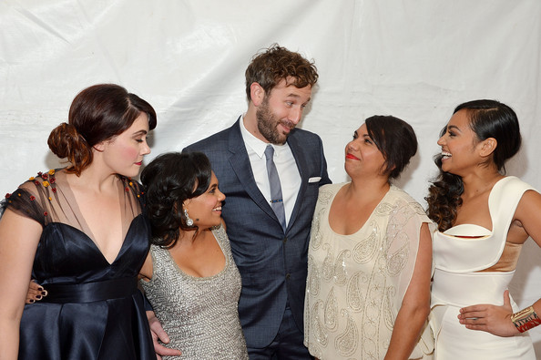 Red Carpet Arrivals at 'The Sapphires' Screening [the sapphires,facial expression,formal wear,event,hairstyle,dress,fashion,fun,lady,shoulder,suit,screening - arrivals,actors,chris o dowd,deborah mailman,miranda tapsell,shari sebbens,l-r,new york,screening]