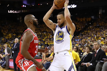 Chris Paul Stephen Curry Houston Rockets vs. Golden State Warriors - Game Three