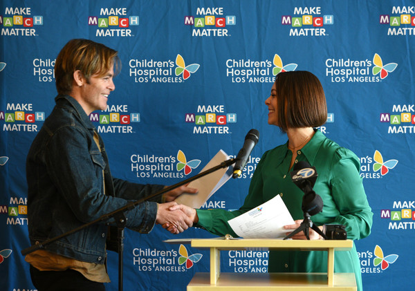 Children's Hospital Los Angeles Fourth Annual Make March Matter Fundraising Campaign Kick-off Event In Los Angeles [news conference,alex carter,chris pine,make march matter,los angeles,california,childrens hospital los angeles,event,childrens hospital los angeles fourth annual make march matter fundraising campaign kick,fundraising campaign kick-off event]