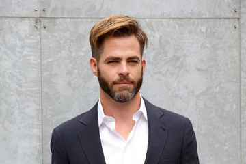 Chris Pine Front Row at Giorgio Armani