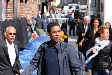Chris Rock Celebrities Visit 'The Late Show With David Letterman'