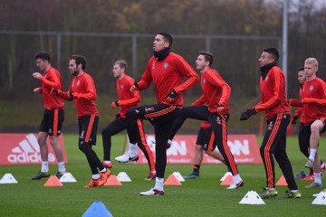Chris Smalling Manchester United Training Session
