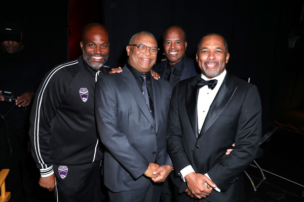 BET Presents The 51st NAACP Image Awards - Backstage [event,suit,fashion,formal wear,night,tuxedo,guests,reginald hudlin,chris spencer,bet presents the 51st naacp image awards,backstage,l-r,pasadena civic auditorium,california,bet,m. night shyamalan,public relations,tuxedo m.,tuxedo,socialite,public,event]