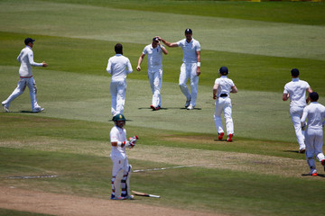 Chris Woakes Moeen Ali South Africa v England - First Test: Day Three