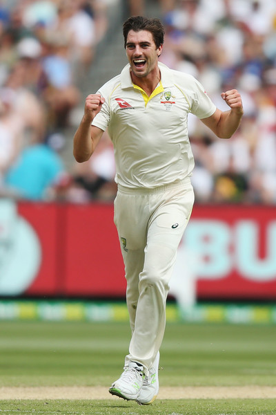 Australia v England - Fourth Test: Day 3 [test cricket,sports,cricketer,ball game,cricket,first-class cricket,team sport,sports equipment,player,championship,pat cummins,chris woakes,wicket,australia,melbourne cricket ground,england,test,fourth test match,series,ashes]