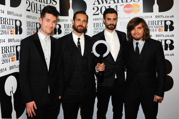 Chris 'Woody' Wood Will Farquarson The BRIT Awards 2014 - Winners Room