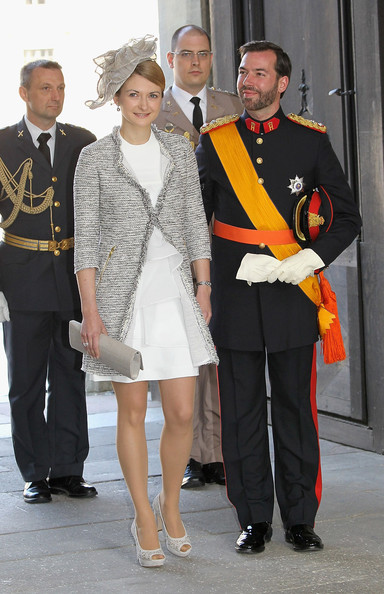 Prince Guillaume of Luxembourg and Stephanie de Lannoy attends the christening of  new Swedish heir to the throne Princess Estelle Silvia Ewa Mary of Sweden at The Royal Palace on May 22, 2012 in Stockholm, Sweden.