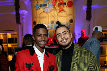 Christian Combs Quincy Brown 2018 GQ All Star Party - Inside