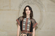 Stacy Martin attends the Christian Dior Haute Couture Spring Summer 2019 show as part of Paris Fashion Week on January 21, 2019 in Paris, France.