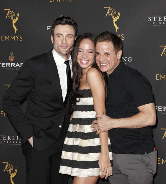 Television Academy's Daytime Programming Peer Group Reception - Arrivals [event,fashion,little black dress,suit,smile,premiere,formal wear,tuxedo,dress,arrivals,christian leblanc,daniel goddard,lexie stevenson,l-r,north hollywood,california,saban media center,television academy,daytime programming peer group reception]
