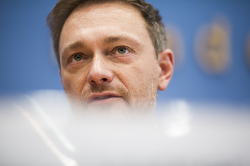 Christian Lindner Political Parties Hold Press Conferences Prior To Coalition Signing
