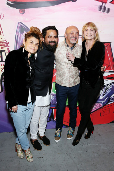 Christian Louboutin and Sabyasachi Unveil Capsule Collection at Just One Eye [event,fun,premiere,christian louboutin,sabyasachi,victoria niarchos,paola russo,just one eye,l-r,los angeles,california,sabyasachi unveil capsule collection]