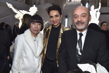 Christian Louboutin Farida Khelfa Louis Vuitton: Front Row  - Paris Fashion Week Womenswear Fall/Winter 2017/2018