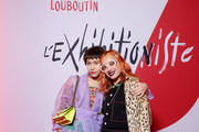 Greta Fernandez and Miranda Makaroff attend the Exhibition Opening of L'Exibition[niste] by Christian Louboutin as part of Paris Fashion Week Womenswear Fall/Winter 2020/2021 on February 24, 2020 in Paris, France.