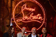 Robin S., Evan Ross, Christian Louboutin and Quincy Brown attend the Loubicircus Party by Christian Louboutin at Musee des Arts Forains as part of Paris Fashion Week on June 19, 2019 in Paris, France.