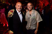 Christian Louboutin and Evan Ross attend the Loubicircus Party by Christian Louboutin at Musee des Arts Forains as part of Paris Fashion Week on June 19, 2019 in Paris, France.
