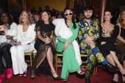 (L-R) Whoopi Goldberg, Meg Ryan, Molly Shannon, Cardi B, Brad Walsh and Jaimie Alexander attend the Christian Siriano fashion show during New York Fashion Week at Grand Lodge on February 10, 2018 in New York City.