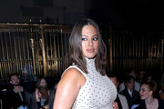Model Ashley Graham attends the Christian Siriano show during New York Fashion Week at Gotham Hall on September 07, 2019 in New York City.