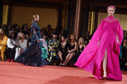 Models walk the runway at the Christian Siriano fashion show during New York Fashion Week at Grand Lodge on February 10, 2018 in New York City.