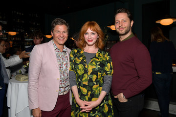 Christina Hendricks David Burtka David Burtka Celebrates The Launch Of 'The Life Is A Party Cookbook' In Los Angeles With The Capital One Savor Credit Card