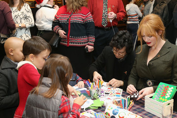 Christina Hendricks Geoffrey Arend Brooks Brothers Celebrates the Holidays With St. Jude Children's Research Hospital