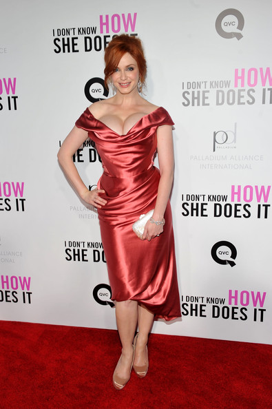 "Christina Hendricks Actress Christina Hendricks attends the premiere of The Weinstein Company's ""I Don't Know How She Does It Premiere"" sponsored by QVC & Palladium Jewelry at AMC Lincoln Square Theater on September 12, 2011 in New York City."