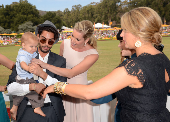 Third Annual Veuve Clicquot Polo Classic - Los Angeles - Inside [event,interaction,fun,shoulder,hug,dress,photography,gesture,prom,happy,rebecca romijn,selma blair,christine kaculis,director of communications,l-r,veuve clicquot polo classic,los angeles,will rogers state historic park,pacific palisades,california]