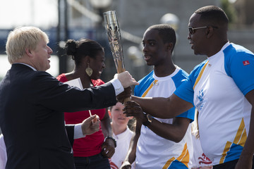Christine Ohuruogu Boris Johnson Welcomes the Baton Relay to London