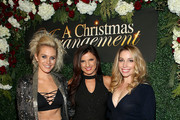 "(L-R) Nicky Whelan, Rachele Brooke Smith, and Autumn Federici attend ""A Christmas Arrangement"" Los Angeles premiere at Garry Marshall Theatre on November 14, 2018 in Burbank, California."