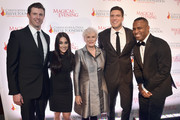 "Matthew Reeve, a guest, Glenn Close, William Reeve and DJ Whoo Kid attend ""A Magical Evening"" Gala hosted by The Christopher & Dana Reeve Foundation a at Conrad Hotel on November 16, 2017 in New York City."