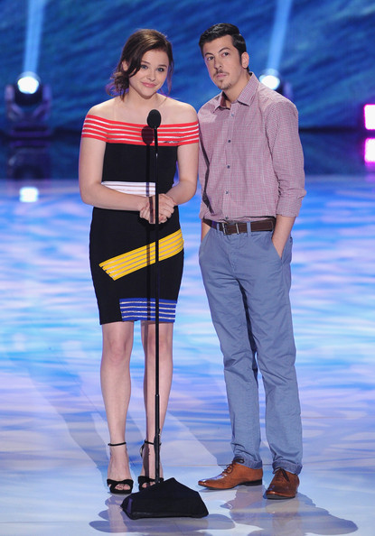 Inside the 2013 Teen Choice Awards [fashion,fashion model,performance,fashion design,event,yellow,fun,thigh,leg,fashion show,actors,chloe grace moretz,christopher mintz-plasse,teen choice awards,universal city,california,gibson amphitheatre,l]