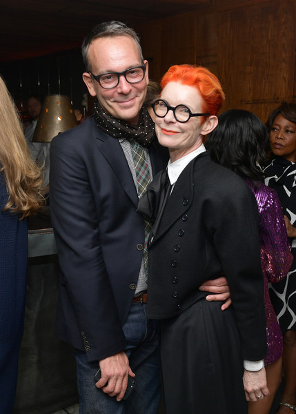 Vanity Fair And Lancôme Toast Women In Hollywood In Los Angeles [event,fashion,eyewear,glasses,suit,vision care,formal wear,smile,fashion design,ceremony,sandy powell,christopher peterson,toast women in hollywood,lanc\u00e3,l-r,los angeles,lanc\u00f4me toast women in hollywood,california,vanity fair,christopher peterson,sandy powell,hollywood,fashion,photograph,image,design,livingly media,vanity fair]