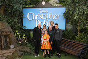 (L-R) Marc Forster, Hayley Atwell, Bronte Carmichael, Jim Cummings, Simon Farnaby, Ewan McGregor attend the European Premiere of 'Christopher Robin' at BFI Southbank on August 5, 2018 in London, England.