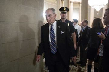 Chuck Grassley Senate GOP Conference Meets After Contentious Judiciary Committee Hearing
