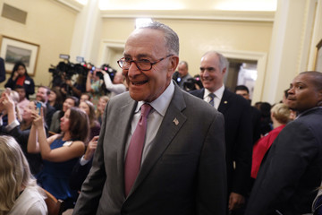 Chuck Schumer Democratic Leadership Discuss the Child Care for Working Families Act