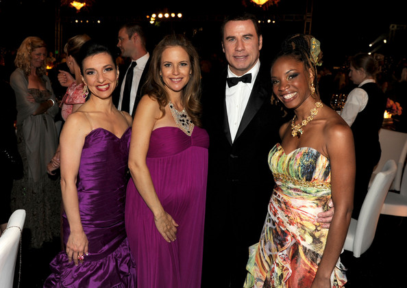 Singer Elena Roggero, actress Kelly Preston, actor John Travolta and singer Michele Henderson attend The Church of Scientology Celebrity Centre 41st Anniversary Gala held at the Church of Scientology Celebrity Centre on August 7, 2010 in Los Angeles, California.