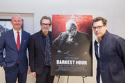 Michael Bishop Director, The National Churchill Library and Center, Actor Gary Oldman and Director Joe Wright at Churchill Library Meet and Greet - Darkest Hour Tour at National Churchill Library and Center on November 3, 2017 in Washington, DC.