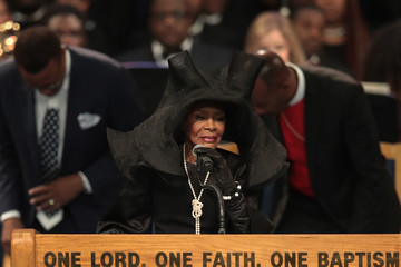 Cicely Tyson Soul Music Icon Aretha Franklin Honored During Her Funeral By Musicians And Dignitaries