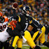 Ben Roethlisberger Photos - Ben Roethlisberger #7 of the Pittsburgh Steelers is wrapped up for a sack by Christian Ringo #79 of the Cincinnati Bengals in the first half during the game at Heinz Field on December 30, 2018 in Pittsburgh, Pennsylvania. - Cincinnati Bengals v Pittsburgh Steelers