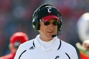 Head coach Tommy Tuberville of the Cincinnati Bearcats on the sidelines during the third against the Rutgers Scarlet Knights  at High Point Solutions Stadium on November 16, 2013 in Piscataway, New Jersey. Cincinnati defeated Rutgers 52-17.
