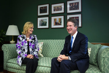 Cindy Hyde-Smith Supreme Court Nominee Brett Kavanaugh Meets With Sen. Hyde-Smith At The Capitol