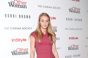 """Elizabeth Gilpin attends The Cinema Society & Bobbi Brown with InStyle screening of """"The Other Woman"""" at The Paley Center for Media on April 24, 2014 in New York City."""