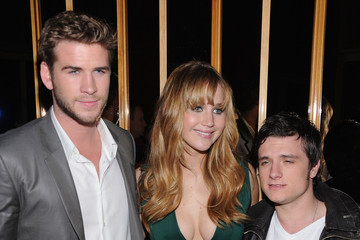 """Josh Hutcherson Liam Hemsworth The Cinema Society And Calvin Klein Collection Host A Screening Of """"The Hunger Games"""" - After Party"""