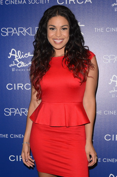 "Jordin Sparks attends The Cinema Society with Circa and Alice & Olivia screening of ""Sparkle"" at Tribeca Grand Hotel on August 14, 2012 in New York City."