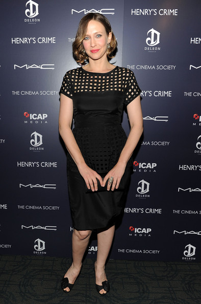 "Actress Vera Farmiga attends the Cinema Society with DeLeon Tequila and Moving Pictures Film & Television screening Of ""Henry's Crime"" at Landmark's Sunshine Cinema on April 4, 2011 in New York City."