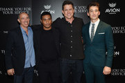 "(L-R) Jon Kilik, Beulah Koale, Jason Hall and Miles Teller attend a screening of DreamWorks and Universal Pictures' ""Thank You for Your Service""  hosted by The Cinema Society at The Landmark at 57 West on October 25, 2017 in New York City."